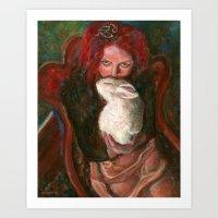 Red Maiya Art Print