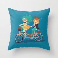Medusa & The Pied Piper Throw Pillow