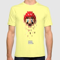Crystal Mario Mens Fitted Tee Lemon SMALL