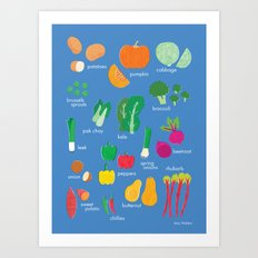 What's in the Kitchen?  - Vegetables Art Print