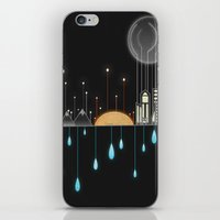 Holding Up With Drops Of Water iPhone & iPod Skin