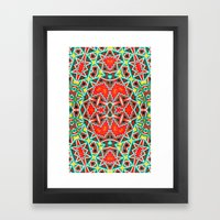 LCD Pattern Framed Art Print
