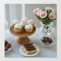 vanilla cupcakes Canvas Print
