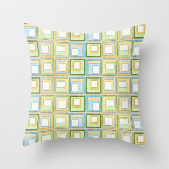 English Country Tiles. Throw Pillow