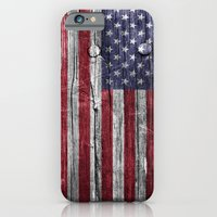 Patriotic Wood Textire iPhone 6 Slim Case