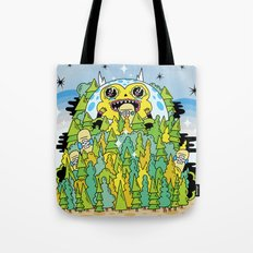 The Monster of Skate Forest Tote Bag