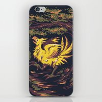 Chocobo With Blossoms iPhone & iPod Skin