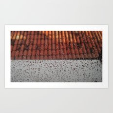Rainy Mood on the Roof Art Print