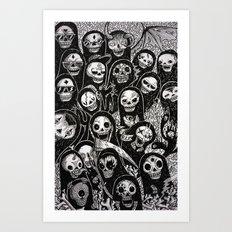 Dias de los muertos Art Print