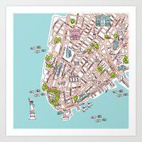 Fun New York City Manhat… Art Print