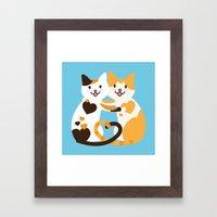 Lovecats Framed Art Print