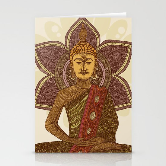 Sitting Buddha Stationery Card