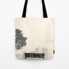 Tom's Favourite Spot —Angels Knoll Park, LA —(500) Days of Summer Tote Bag