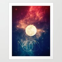 Moon Art Print