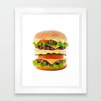 Cheeseburger YUM Framed Art Print