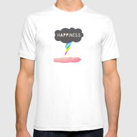 Happiness Mens Fitted Tee White SMALL