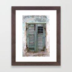 Closed Window Shutters in South Europe Framed Art Print