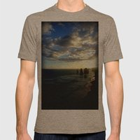 Clouds Circling The Twel… Mens Fitted Tee Tri-Coffee SMALL