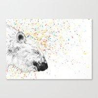 Polar Bear // Endangered Animals Canvas Print
