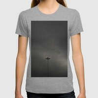 Gray Sky Womens Fitted Tee Athletic Grey SMALL