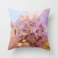 Amethyst Incrustrations Throw Pillow