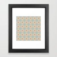 Cute Crosses Pattern Framed Art Print