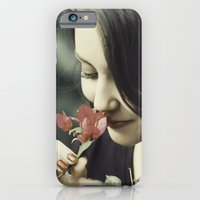 iPhone & iPod Case featuring The Flower Lady by Davi Ozolin