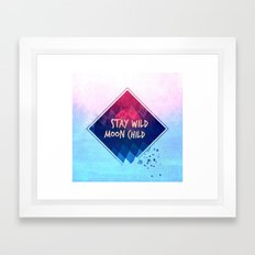 Stay wild moon child boho Framed Art Print