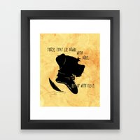 Those That Lie Down With… Framed Art Print