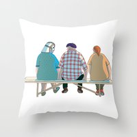 Kind Grandma Throw Pillow