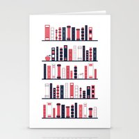 Shelves of Books Stylized Stationery Cards