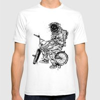 Void In Space (Blk) Mens Fitted Tee White SMALL