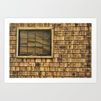 Window And Cedar Wall Art Print