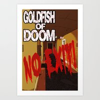 Goldfish of Doom - No Exit Art Print