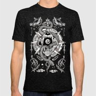 Ad Mortumn Mens Fitted Tee Tri-Black SMALL