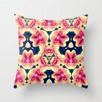 Kaleidoscope Orchids Throw Pillow