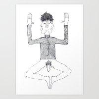 2face Art Print