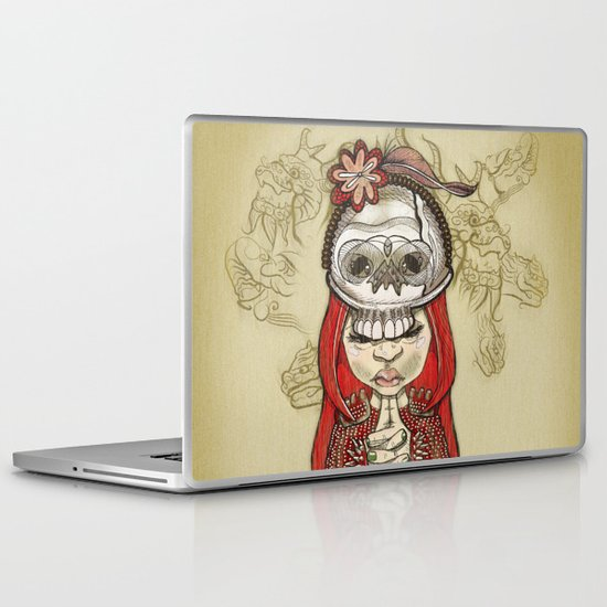 i wear my lucky skull  Laptop & iPad Skin