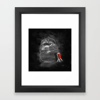 Chalk Monster Framed Art Print