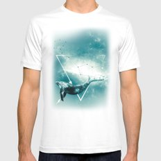 The Whale - Blu Mens Fitted Tee White SMALL