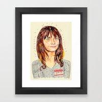 ann perkins Framed Art Print