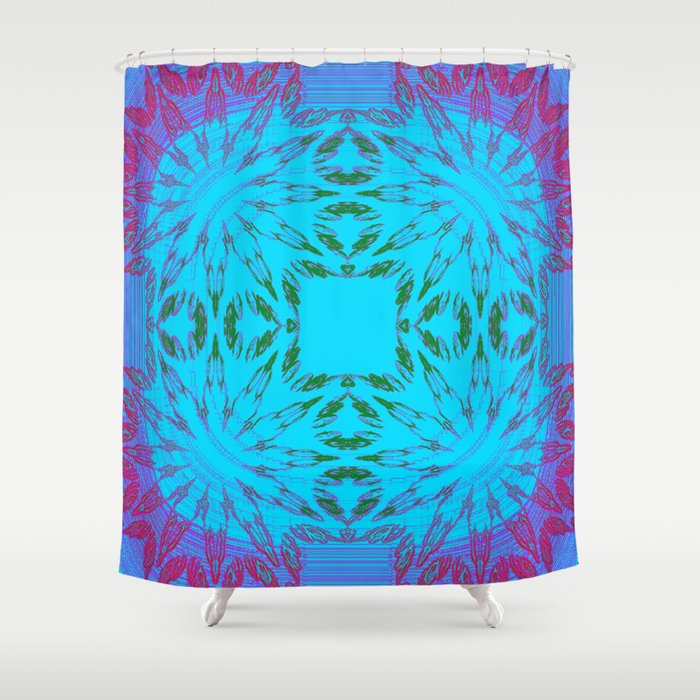 Magenta Purple Turquoise Color Burst Shower Curtain By 2sweet4words Des