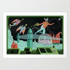 Surveillance of Moon Base 23 Art Print