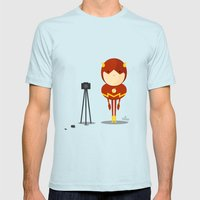 My Camera Hero! Mens Fitted Tee Light Blue SMALL