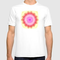 ATOM OF HAPPINESS Mens Fitted Tee SMALL White