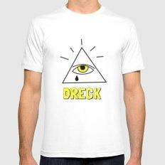 Dreck Illuminati Mens Fitted Tee White SMALL