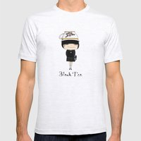 Black Tea Girl Mens Fitted Tee Ash Grey SMALL