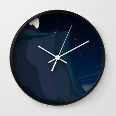 fairy landscape (at night) Wall Clock