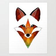 Art Print featuring Wild Fox by Art Et Be