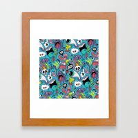 Doodled Pattern Framed Art Print